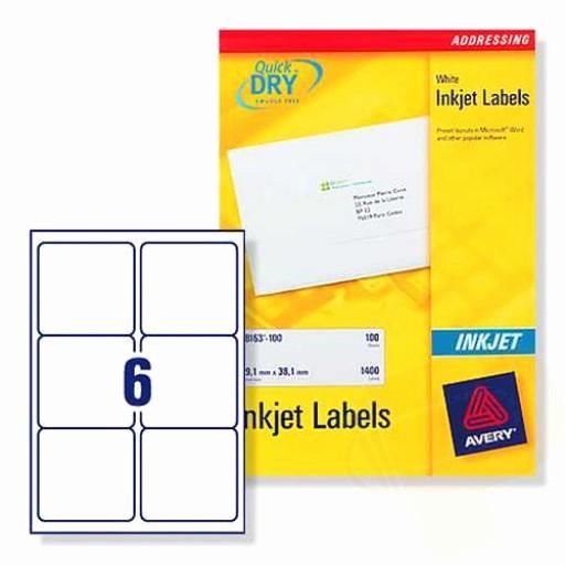 Avery Label 6 Per Page Luxury J8166 Avery Inkjet Labels 6 Per Sheet