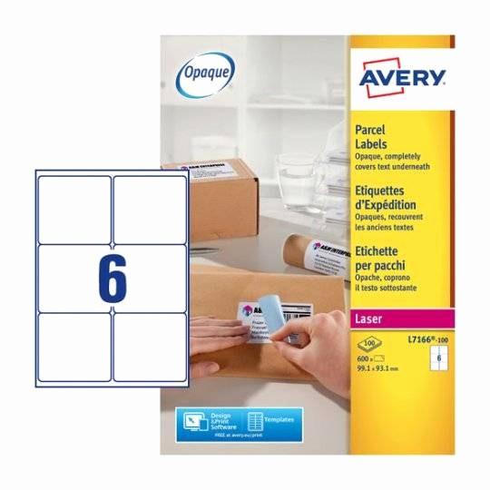 Avery Label 6 Per Page Luxury Parcel Labels J8166 25