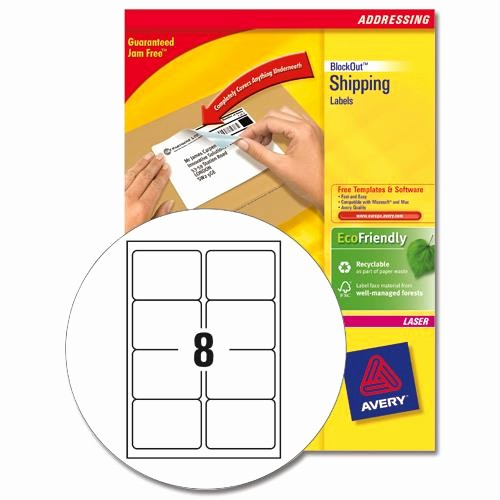 Avery Label 8 Per Page Lovely Avery L7165 Laser Printer Labels 8 Labels Per Page 99 1x67
