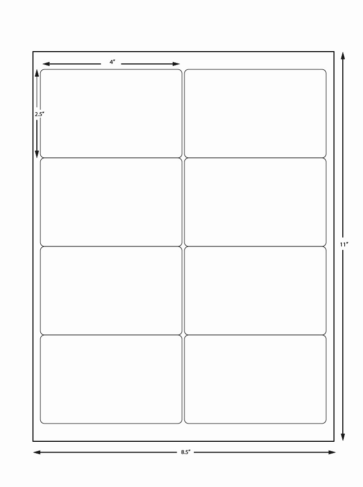 Avery Label 8 Per Page New Avery Sheet Labels 8 Labels Per Sheet