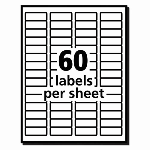 Avery Label 8 Per Page New Easy Peel Mailing Address Labels Laser 2 3 X 1 3 4