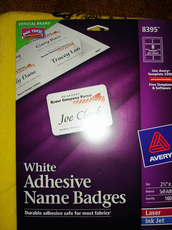 Avery Label 8395 Word Template Fresh Avery Adhesive Name Badges Labels 8395