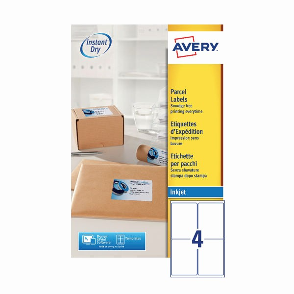 Avery Labels 2 Per Page Beautiful Avery Quickdry 139x99 1mm Inkjet Label 4 Per Sheet Pack