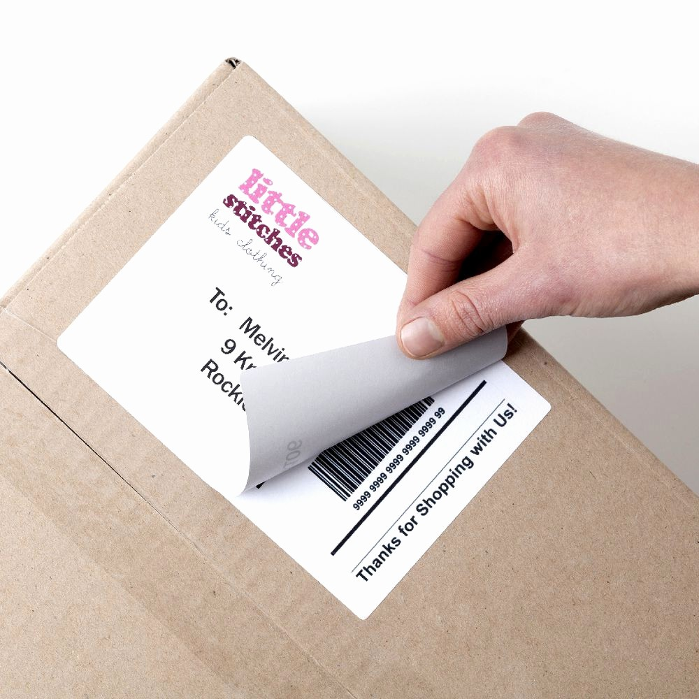 Avery Labels 2 Per Page Elegant Avery Laser Shipping Labels White 100 Sheets 2 Per Page