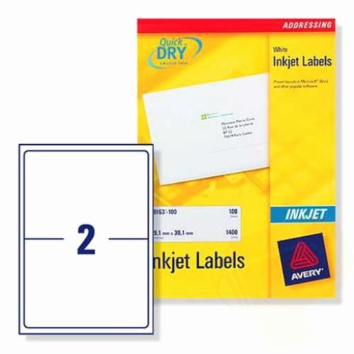 Avery Labels 2 Per Page Elegant J8168 Avery Inkjet Labels 2 Per Sheet 100 Sheets