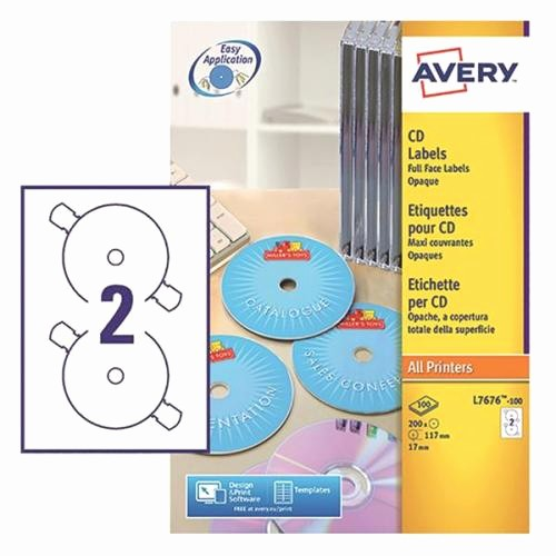 Avery Labels 2 Per Page New Avery White Full Face Cd Dvd Laser Label 2 Per Sheet Pack