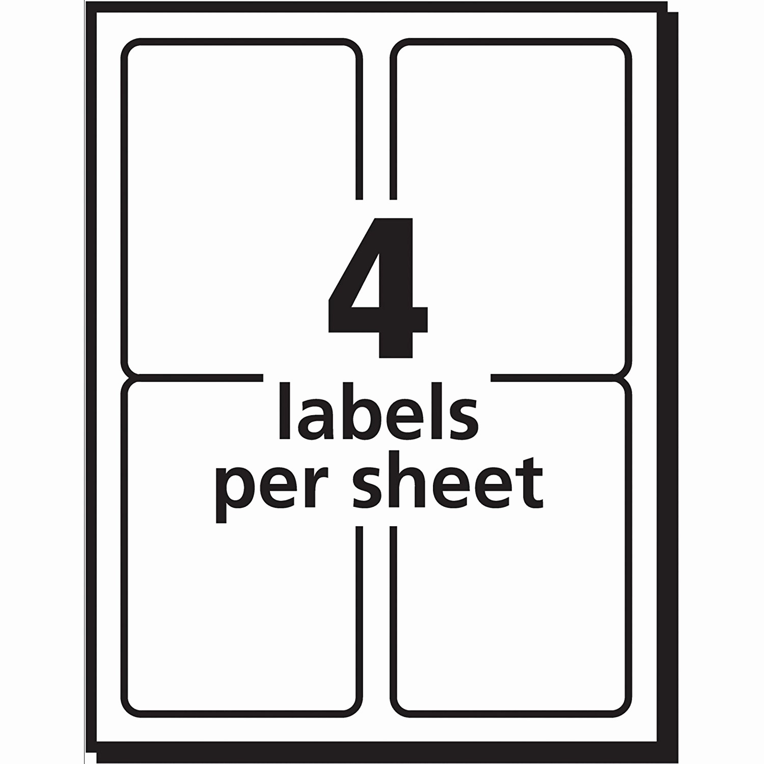 Avery Labels 2 Per Page New Label Template 4 Per Sheet