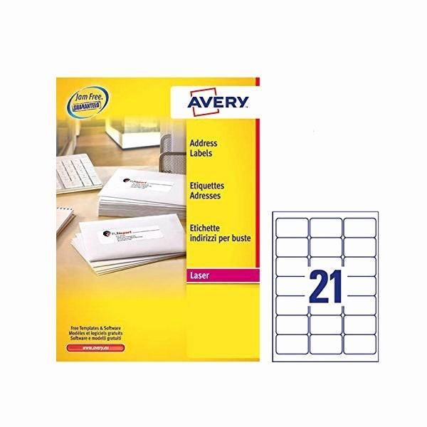 Avery Labels 2 Per Page Unique Avery Address Laser Labels 21 Labels Per Sheet 100