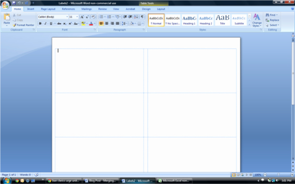 Avery Labels 8163 Word Template Beautiful Merge Data From An Excel Workbook Into A Word Document