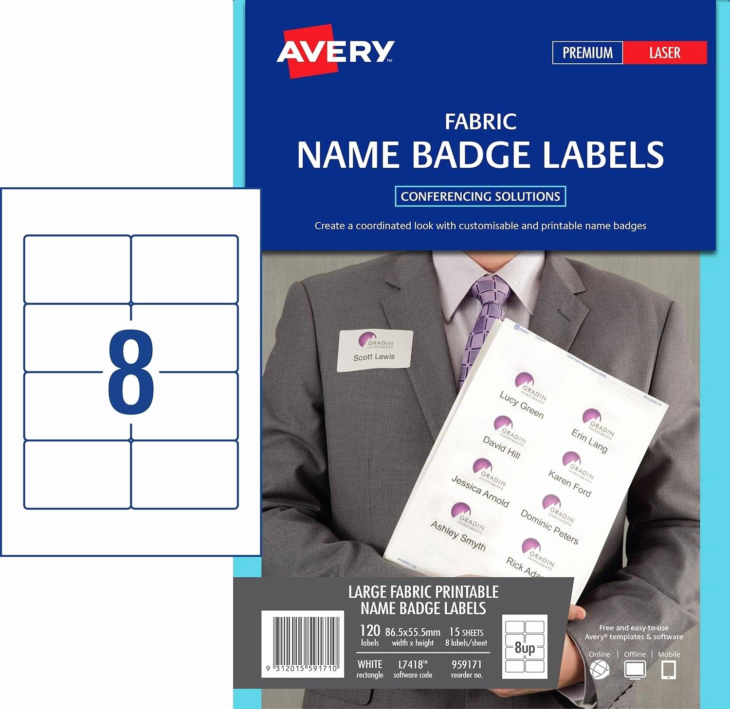 Avery Labels Name Tags Templates Inspirational Fabric Name Badge Labels