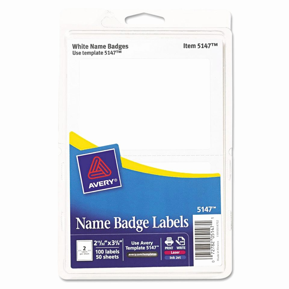 Avery Labels Name Tags Templates Luxury Name Badge Template 6 Per Sheet