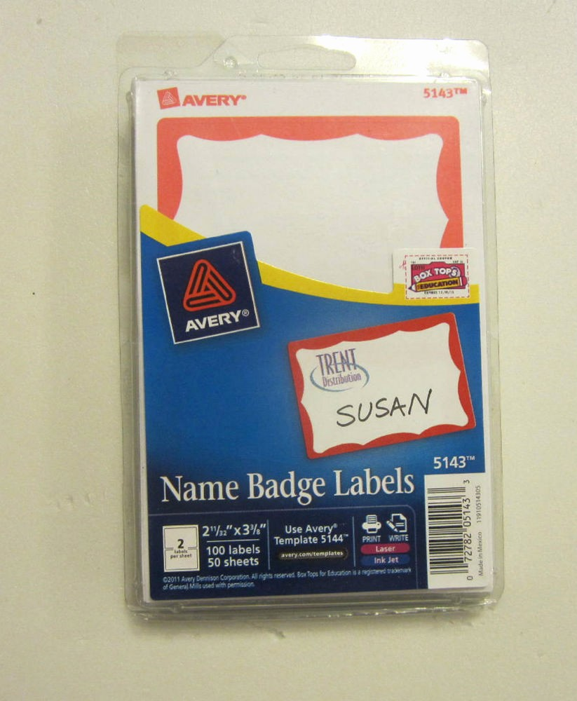 Avery Name Badge Labels Template Awesome 300 Avery Dennison Red Border Badges Name Tags Id Labels