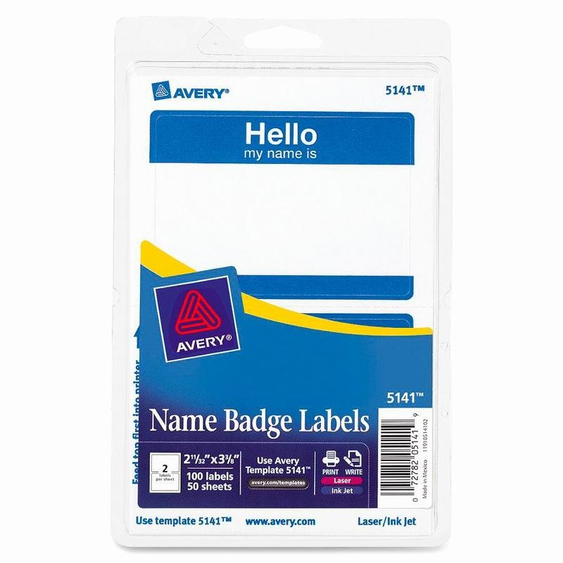 Avery Name Badge Labels Template Awesome Avery 5141 Border Print Write Hello Name Badge Labels the