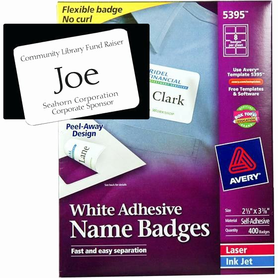 Avery Name Badge Labels Template Awesome Free Avery Name Badge Template 5392 – Free Template Design