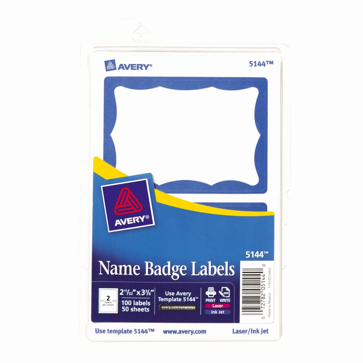 Avery Name Badge Labels Template Beautiful Avery Self Adhesive Name Badge Labels Blue Border 100