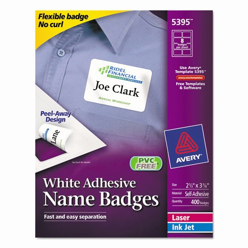 Avery Name Badge Labels Template Inspirational Superwarehouse Avery Dennison Name Badge Labels