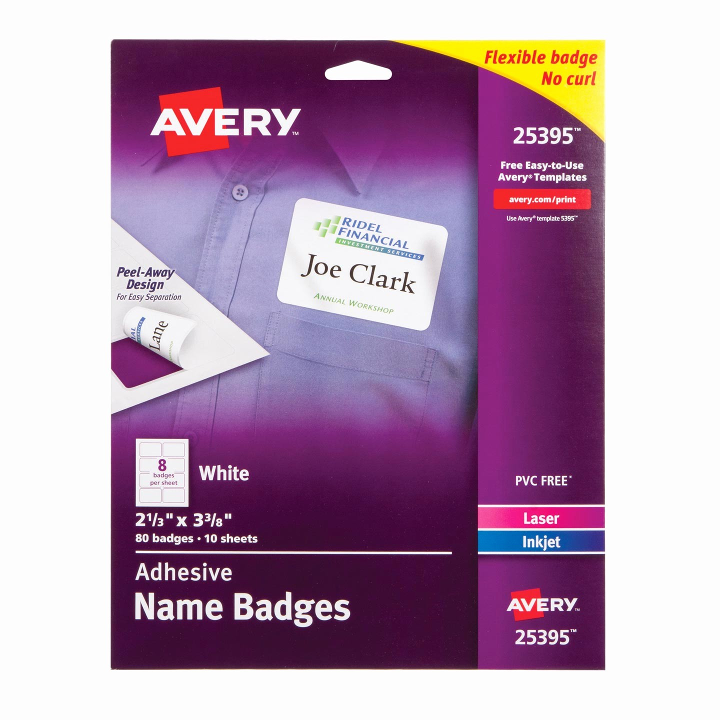 Avery Name Badge Labels Template Lovely Avery Name Badge Labels White 80 Pack