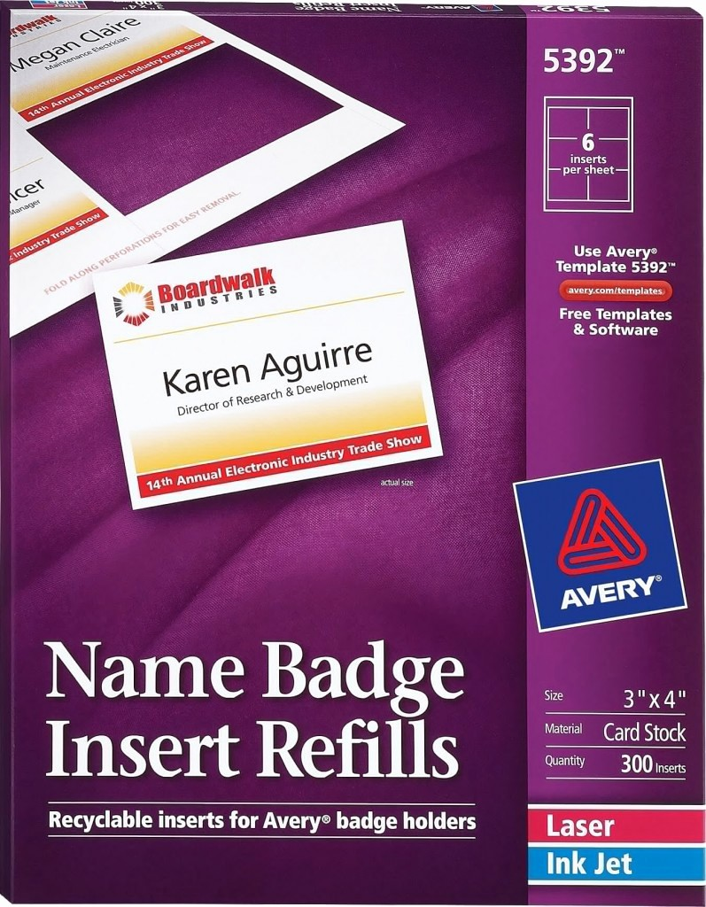 Avery Name Badge Labels Template Luxury Avery Name Badge Inserts 5392 Avery Line Singapore