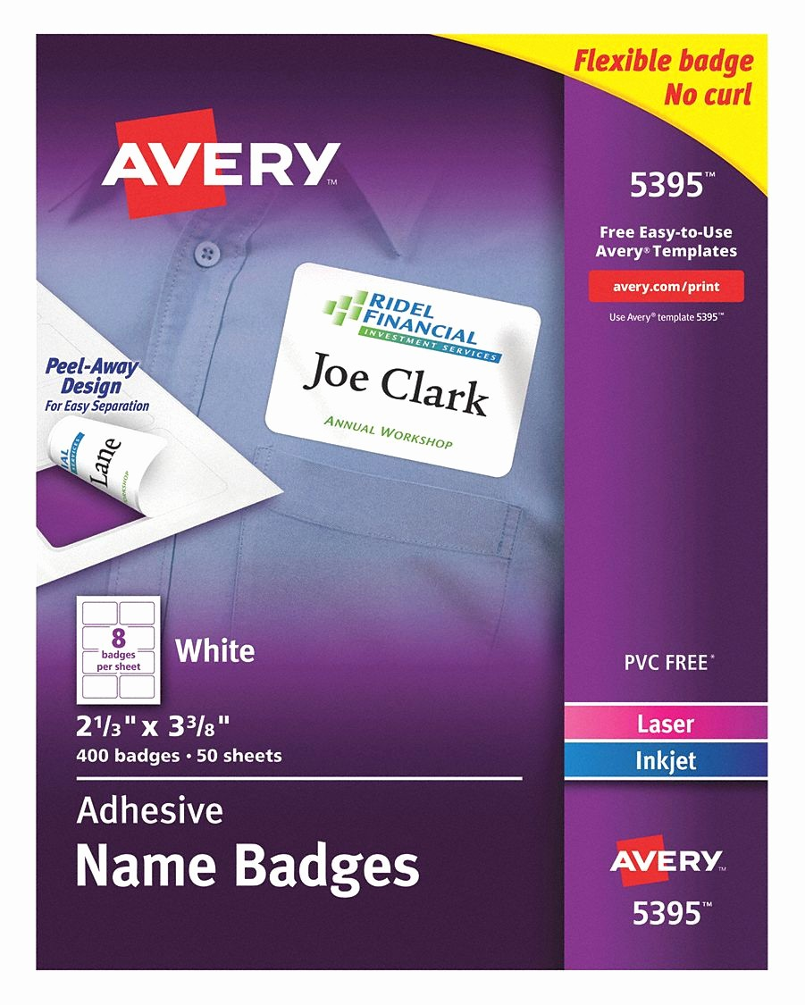 Avery Name Badge Labels Template Luxury Badge Usa