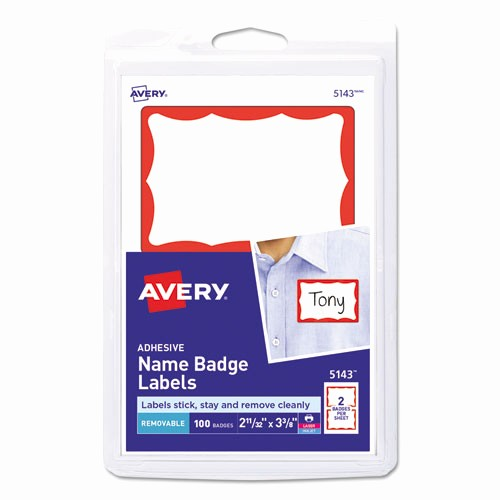 Avery Name Badge Labels Template New Ave5143 Avery Printable Self Adhesive Name Badges Zuma