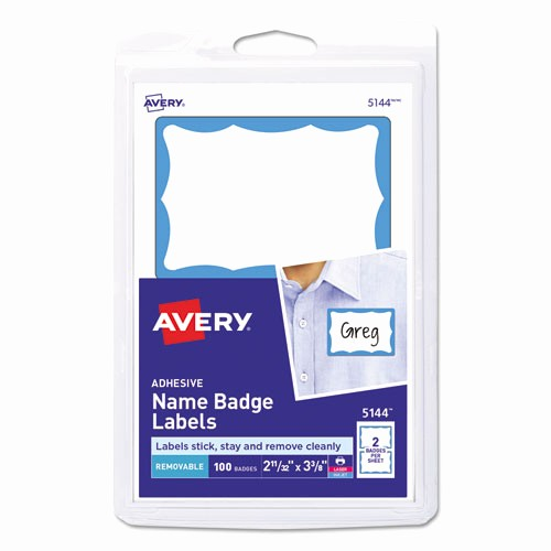 Avery Name Badge Labels Template New Ave5144 Avery Printable Self Adhesive Name Badges Zuma