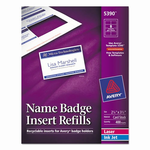 Avery Name Tag Labels Template Fresh Bettymills Avery Name Badge Inserts Avery 5390