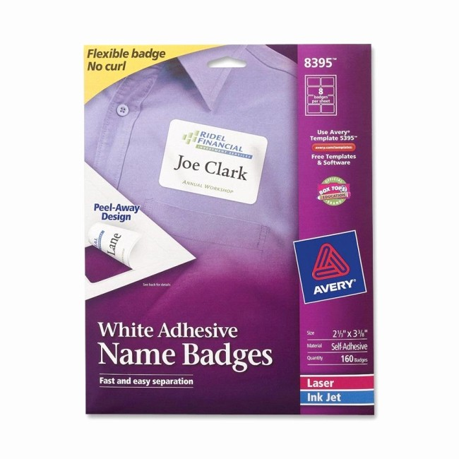 Avery Name Tag Labels Template Lovely Printer