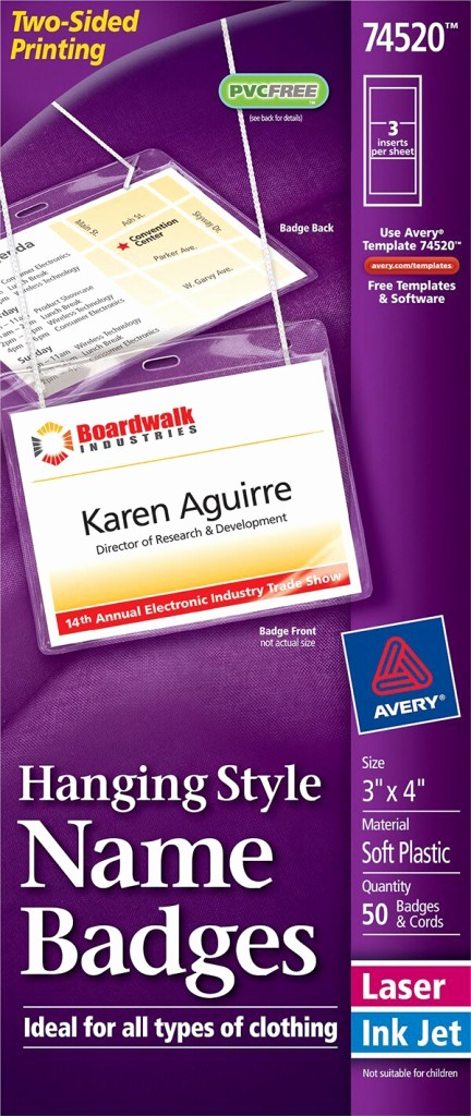 Avery Name Tag Labels Template New Avery Hanging Name Badges top Loading Avery