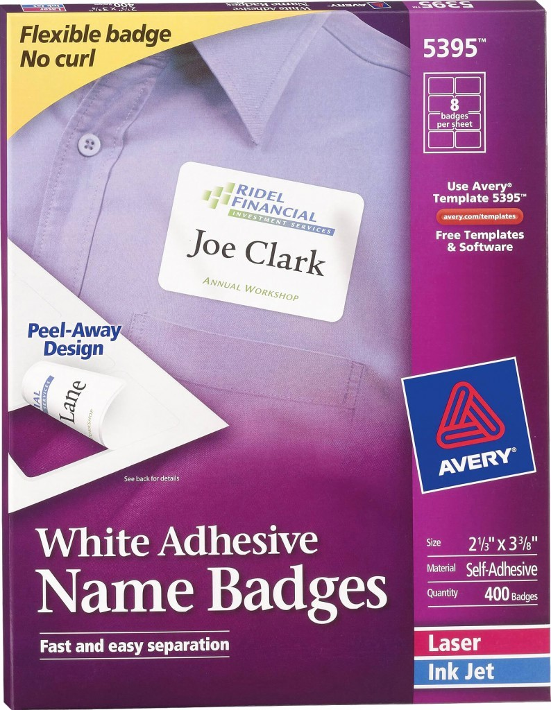 Avery Name Tag Labels Template New Avery White Adhesive Name Badge Labels 5395 Avery
