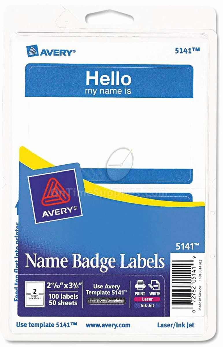 Avery Name Tag Labels Template Unique Printable Name Tags by Avery