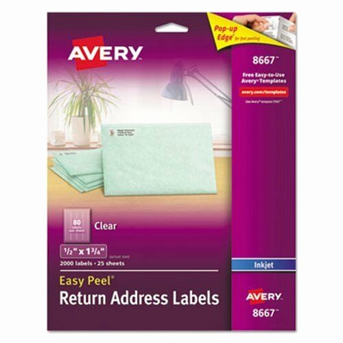 "Avery Return Address Labels 5160 Best Of Avery 8667 Clear Return Address Labels 1 2"" X 1 3 4"