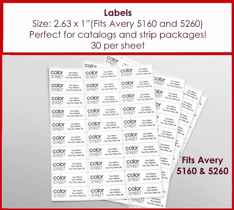 Avery Return Address Labels 5160 Elegant Labels Color Street Return Address Labels Avery 5160 Size