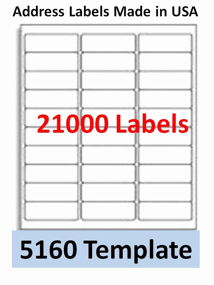 Avery Return Address Labels 5160 Fresh Mailing Label Templates for Word