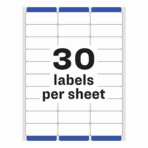 """Avery Return Address Labels 5160 Inspirational Avery 1"""" X 2 5 8"""" 5160 Laser Address Labels with Easy Peel"""