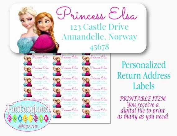 Avery Return Address Labels 5160 New Frozen Inspired Avery 5160 Return Address Labels Digital