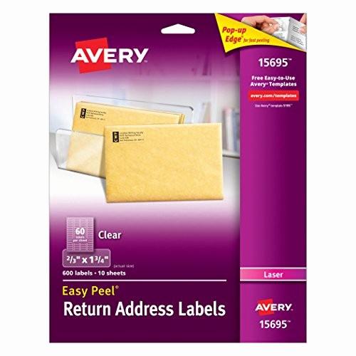 Avery Return Address Labels 5267 Elegant Easy Peel Return Address Holiday Labels for Laser Printers