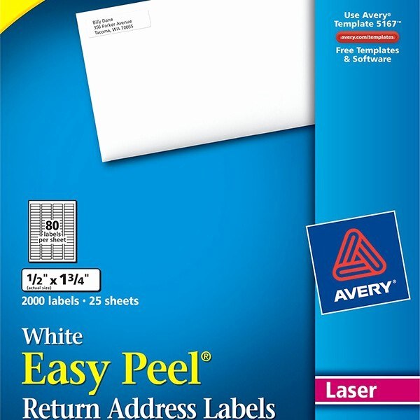 Avery Return Address Labels 5267 New New Avery Return Address Label