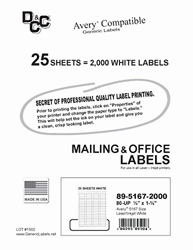 Avery Return Address Labels 5267 Luxury 25 Sheets Dcc Generic White Self Adhesive Return Address