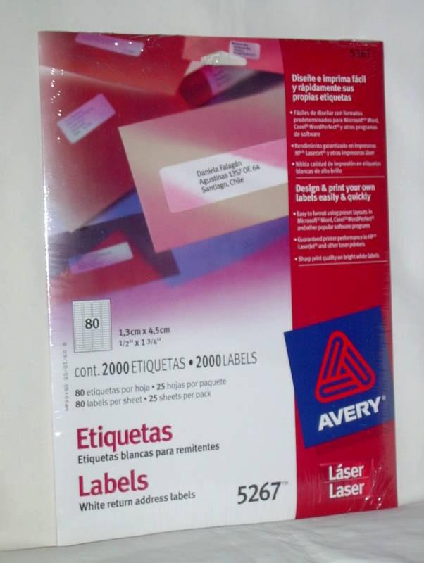 Avery Return Address Labels 5267 Luxury Avery White Return Address Laser Labels 5267 Package 2000