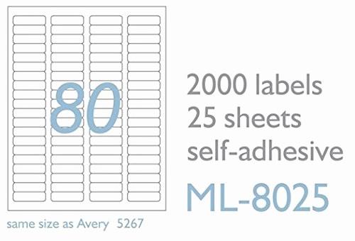 Avery Return Address Labels 5267 Luxury Maco Laser Ink Jet White Return Address Labels 1 2 X 1 3