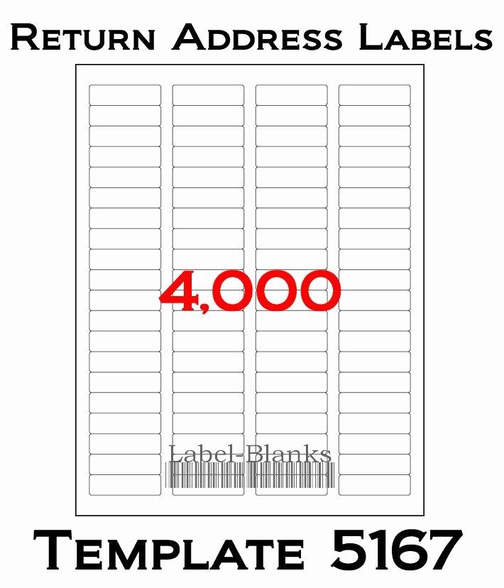 Avery Return Address Labels 5267 New 4000 Laser Ink Jet Labels Return Address Fits Size 5167