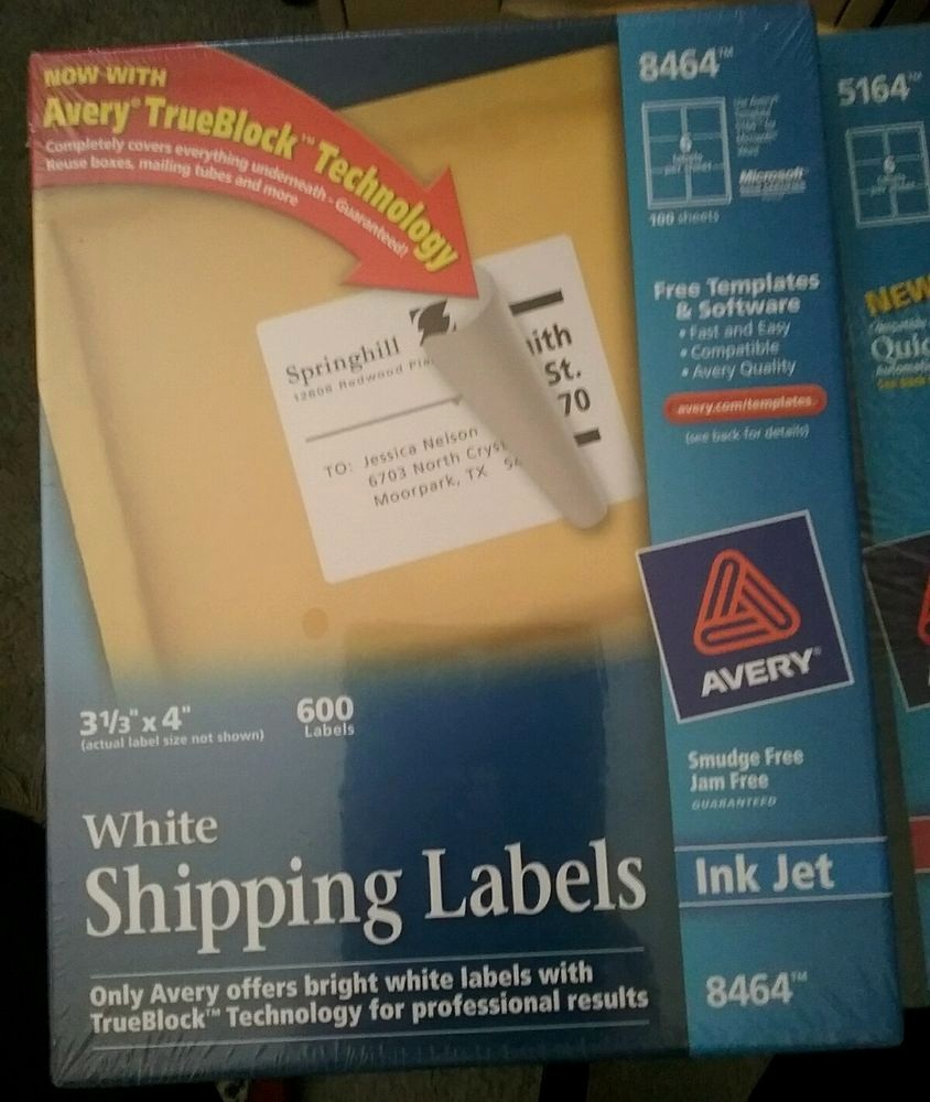 """Avery Shipping Label Templates 5164 Fresh 600 Avery 8464 5164 Mailing Shipping Labels 3 1 3"""" X 4"""