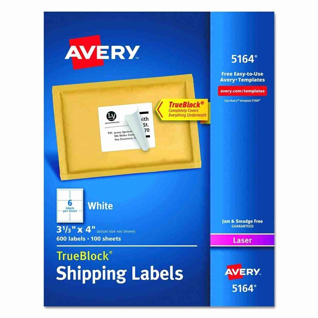 Avery Shipping Label Templates 5164 Fresh Avery Label Templates 5164