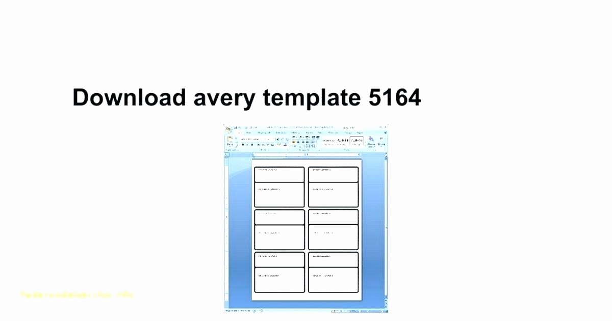 Avery Shipping Label Templates 5164 Unique Avery 5164 Template Choice Image Free Templates Ideas