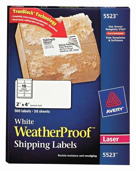 Avery Shipping Labels 5163 Template Beautiful Laser and Inkjet Labels by Avery