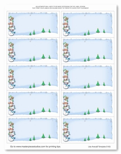 Avery Shipping Labels 5163 Template Fresh Avery 5163 Christmas Template