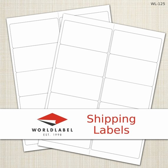 """Avery Shipping Labels 5163 Template Fresh Items Similar to 4 X 2"""" White Matte Labels 100 Sheets"""