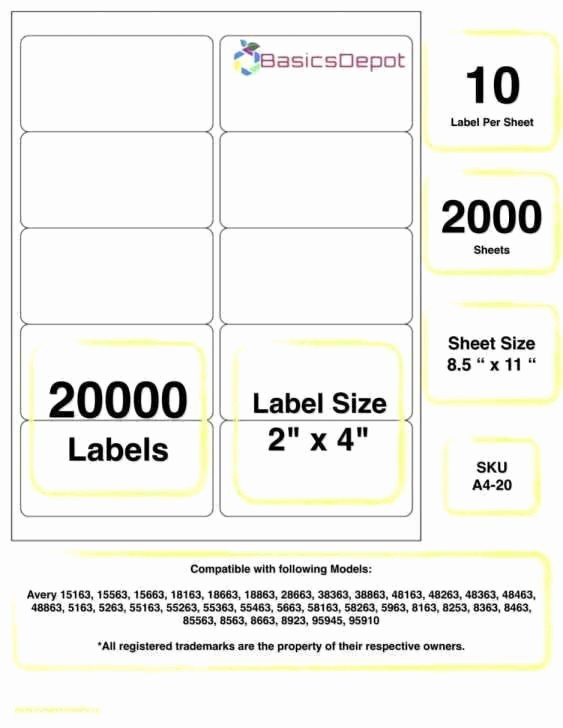 Avery Shipping Labels 5163 Template Lovely Avery Label Template 8163 Best Avery 5163 Label Template