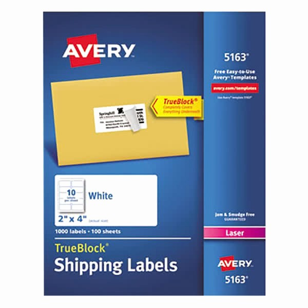 Avery Shipping Labels 5163 Template Luxury Avery White Shipping Labels 5163 Template