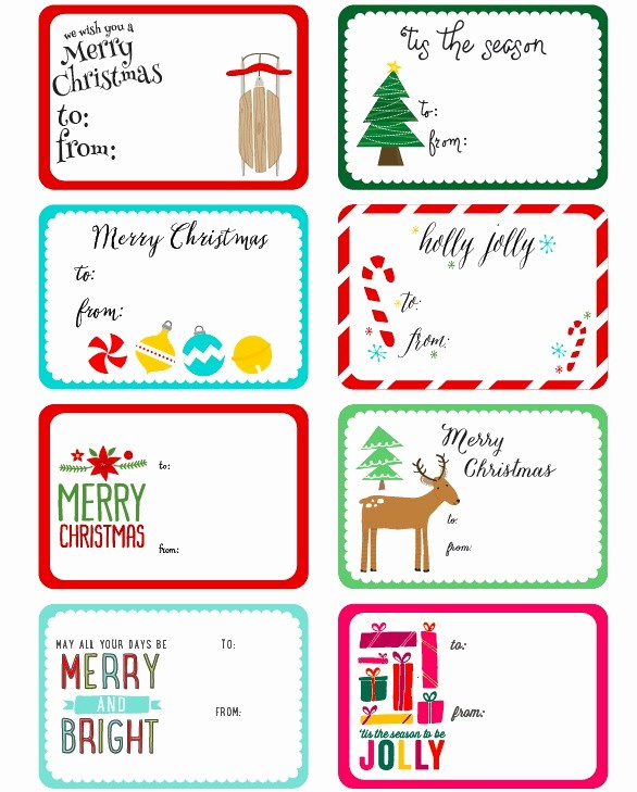 Avery Template 18660 Microsoft Word Beautiful Christmas T Tags Template Word Personalized T Tag